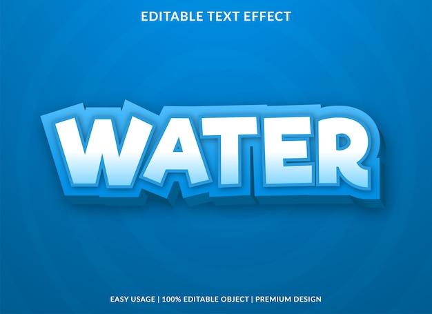 Modello di effetto testo modificabile dell'acqua