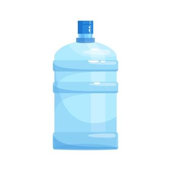 Gallone d'acqua per illustrazione vettoriale di colore rgb semi piatto più fresco. enorme bottiglia riutilizzabile di acqua minerale. liquido purificato in contenitore portatile oggetto di cartone isolato su sfondo bianco