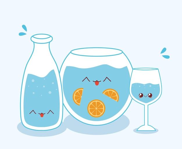 Set bicchieri da acqua water