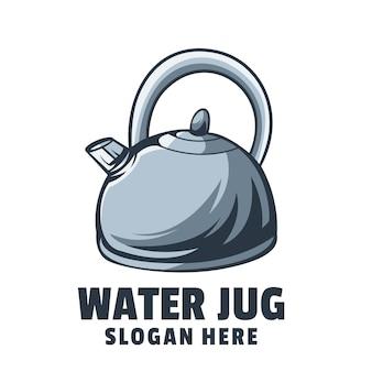 Vettore di design del logo della brocca d'acqua
