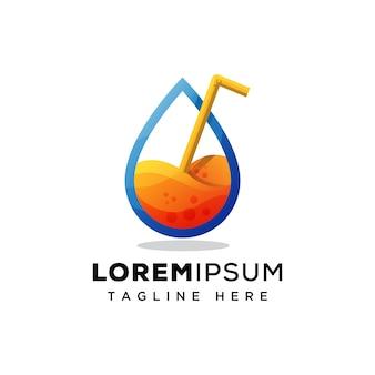 Logo del succo d'acqua