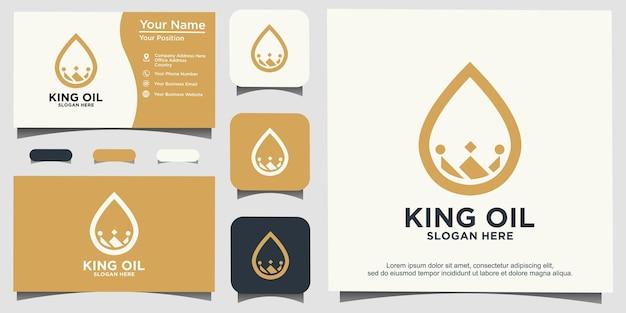 Design del logo del re dell'acqua