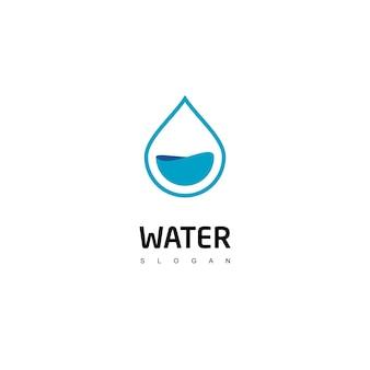 Modello di progettazione del logo dell'acqua