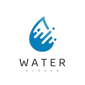 Logo dell'acqua, gocciolina, icona dell'azienda di acqua minerale