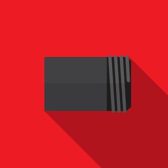 Simbolo del segno di vettore isolato iluustration dell'icona piana del tubo dell'acqua