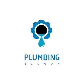 Simbolo dell'industria del logo dell'impianto idraulico dell'acqua