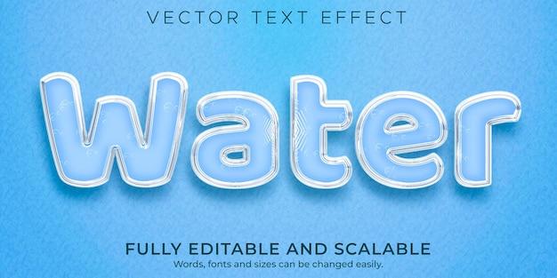 Modello di stile effetto testo acqua mare