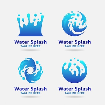 Logo design con spruzzi d'acqua