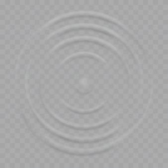 Le onde di ondulazione della spruzzata dell'acqua cadono sulla superficie Vettore Premium