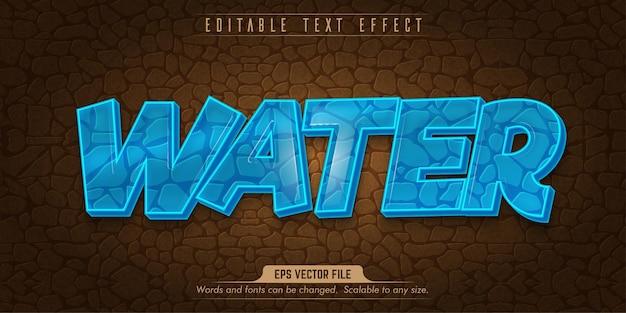 Effetto testo modificabile in stile acqua