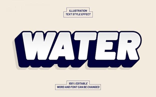 Effetto stile testo ad acqua