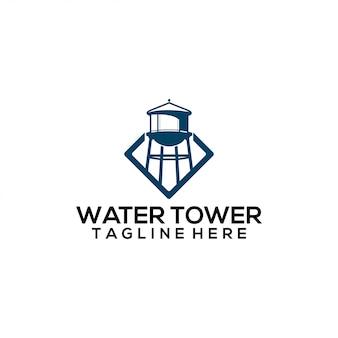 Concetto di logo della torre dell'acqua