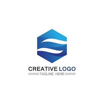 Logo del design dell'illustrazione dell'onda d'acqua