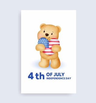 Acquerello 4 luglio - giorno dell'indipendenza