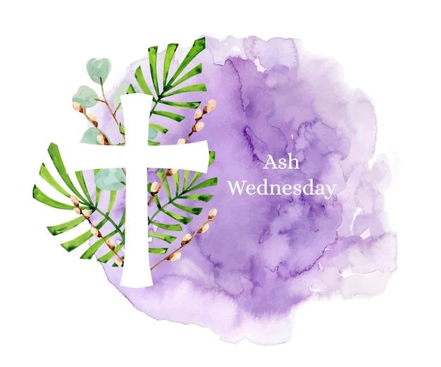 Mercoledì delle ceneri dell'acquerello