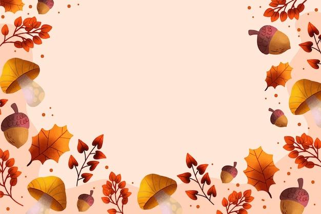 Sfondo autunno acquerello