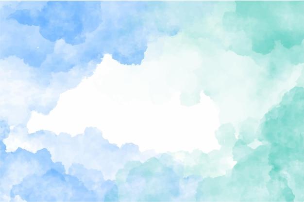 Sfondo acquerello cielo blu e nuvole
