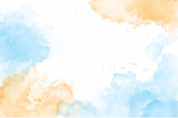 Sfondo acquerello cielo e nuvole pastello