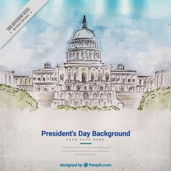 Priorità bassa dell'acquerello a giornata del presidente