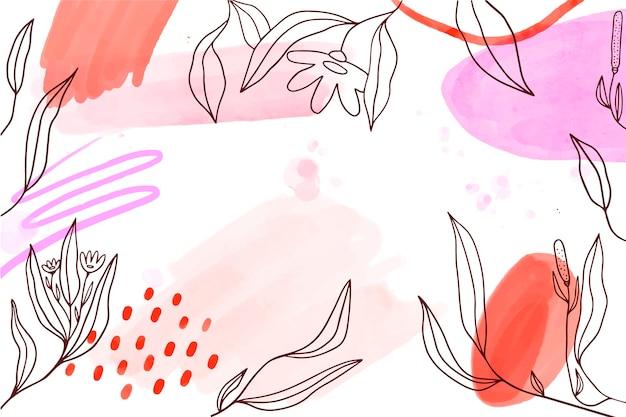 Sfondo acquerello con elementi disegnati a mano