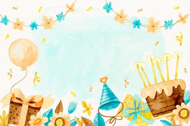 Sfondo di compleanno dell'acquerello
