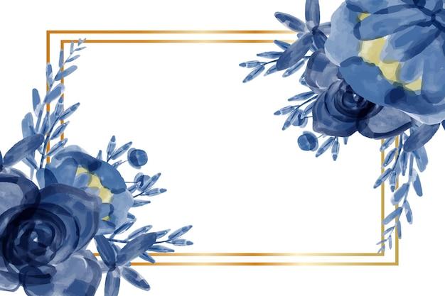 Priorità bassa della struttura del fiore blu dell'acquerello