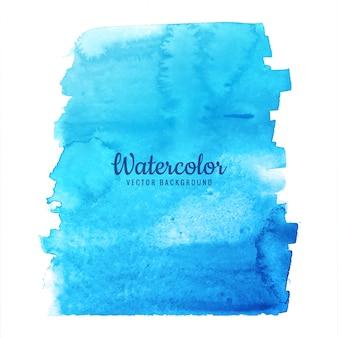 Vettore di disegno della spruzzata di blu dell'acquerello