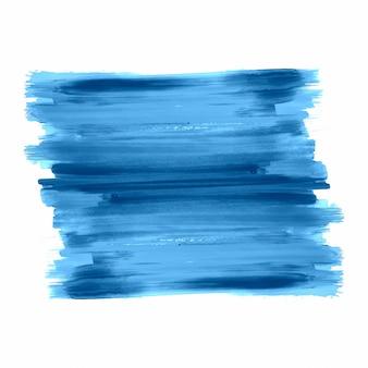 Vettore di disegno di colpo blu dell'acquerello