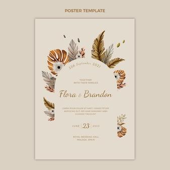Poster di compleanno boho acquerello