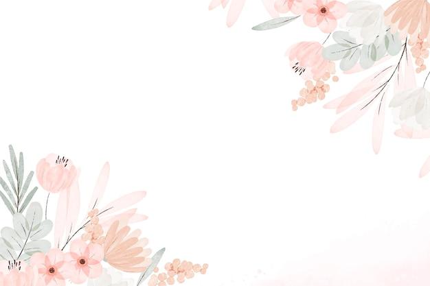 Sfondo floreale boho acquerello