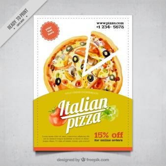 Brochure acquerello del cibo italiano