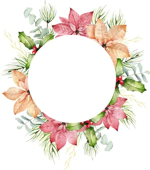 Bouquet di natale dell'acquerello