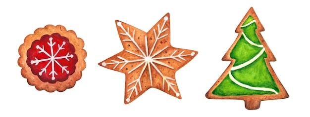 Biscotti di natale dell'acquerello