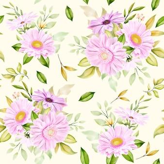 Modello senza cuciture del crisantemo dell'acquerello