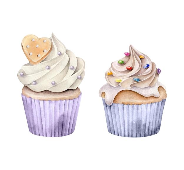 Cupcakes dell'acquerello