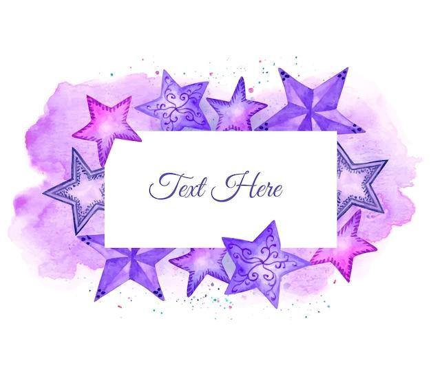 Cornice di stelle colorate adorabili dell'acquerello carino