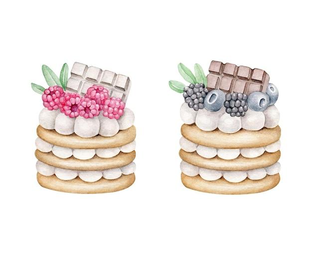 Dessert dell'acquerello
