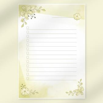 Stampa della lista dei sogni dell'acquerello