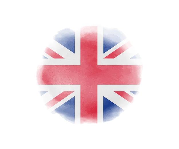 Bandiera dell'acquerello del regno unito