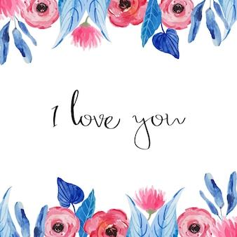 Priorità bassa floreale dell'acquerello per carta, invito, matrimonio, san valentino.