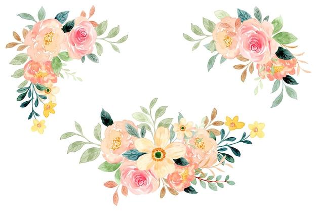 Collezione di bouquet floreali ad acquerello
