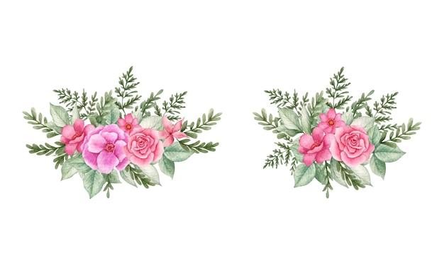 Set bouquet floreale ad acquerello per ogni occasione