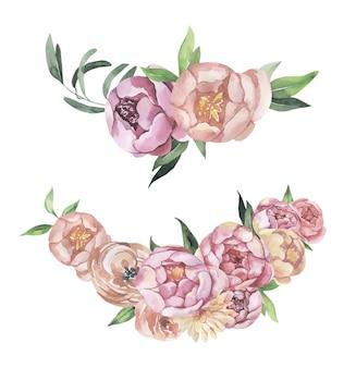 Mazzi floreali dell'acquerello.