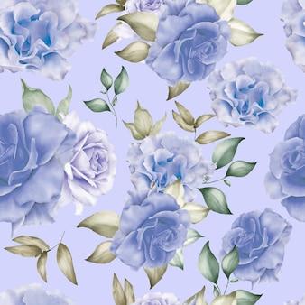 Fiori floreali senza cuciture dell'acquerello