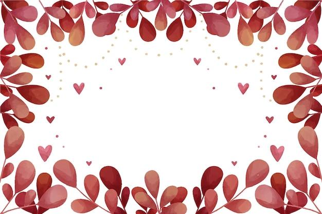 Fondo floreale di san valentino dell'acquerello