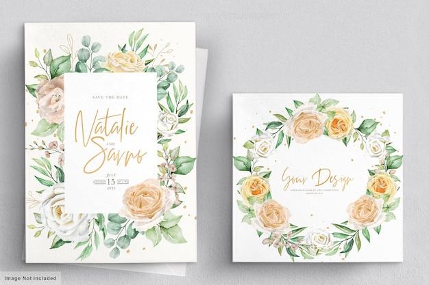 Carta di invito matrimonio floreale dell'acquerello