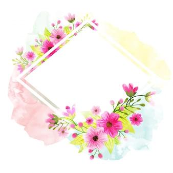 Acquerelli floreali decorati, belle cornici con spazio per il vostro testo.