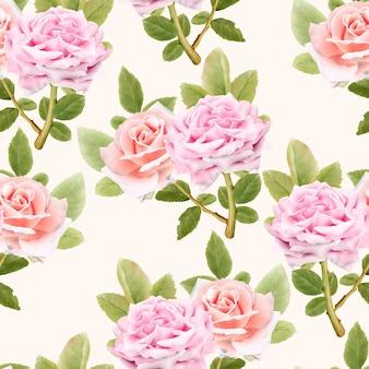 Reticolo senza giunte dei fiori dell'acquerello