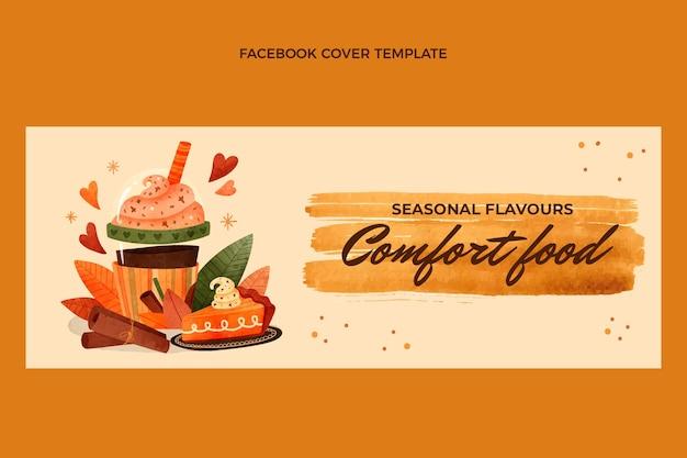 Copertina facebook cibo acquerello