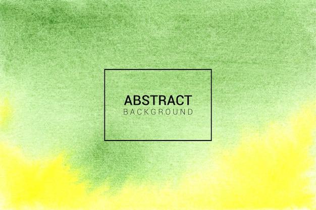 Fondo astratto di struttura dell'acquerello verde e giallo